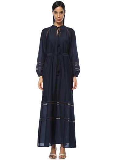 Tory Burch Uzun Şifon Elbise Lacivert